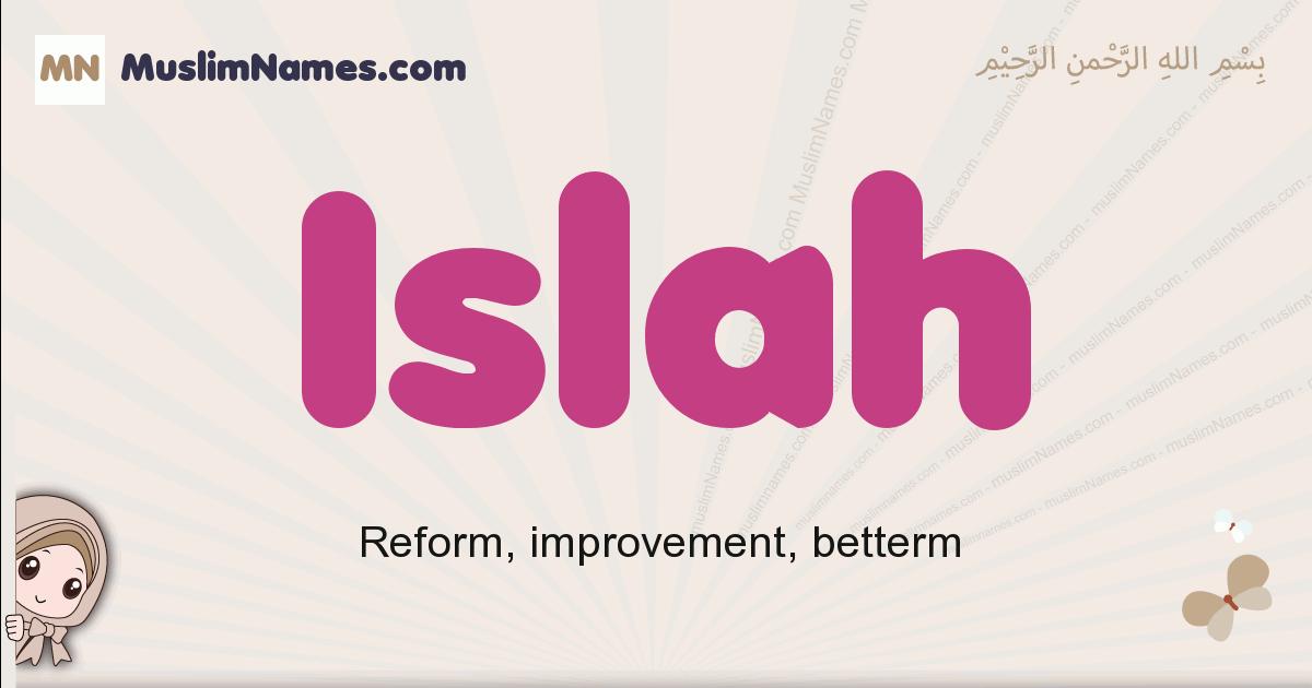 Islah muslim boys name and meaning, islamic boys name Islah