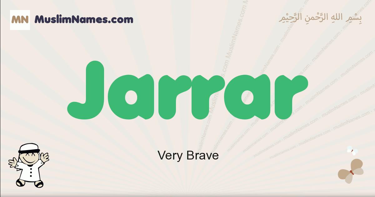 jarrar muslim boys name and meaning, islamic boys name jarrar