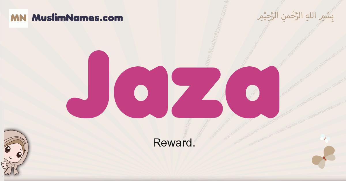 jaza muslim girls name and meaning, islamic girls name jaza