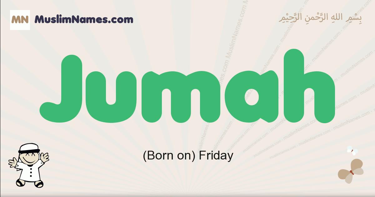 jumah muslim boys name and meaning, islamic boys name jumah