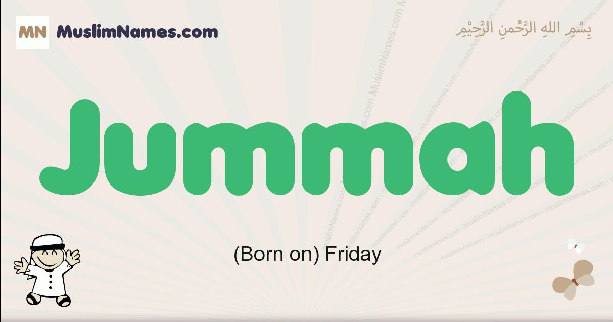 Jummah muslim boys name and meaning, islamic boys name Jummah