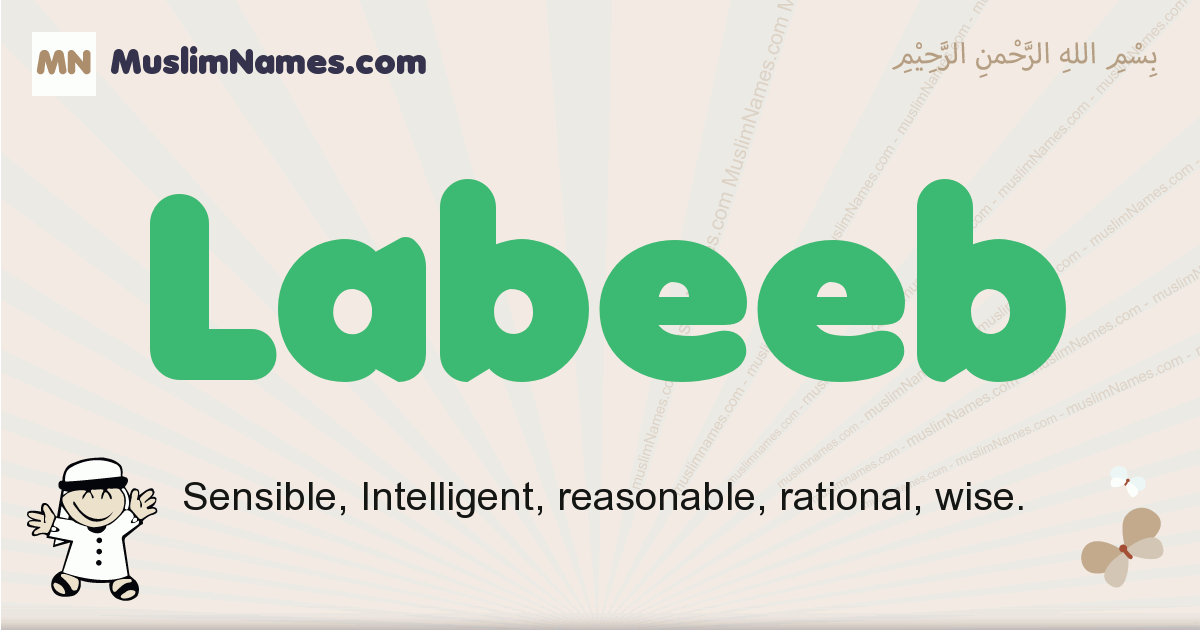 Labeeb muslim boys name and meaning, islamic boys name Labeeb