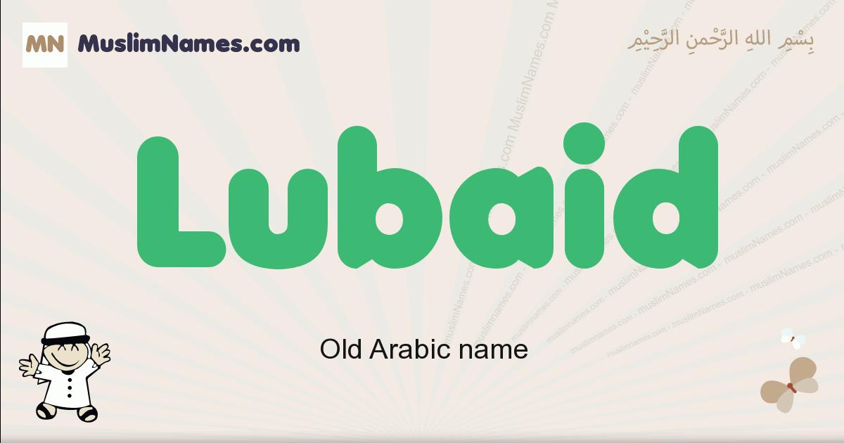 Lubaid muslim boys name and meaning, islamic boys name Lubaid