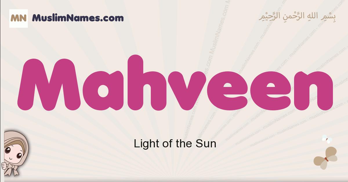 Mahveen muslim girls name and meaning, islamic girls name Mahveen