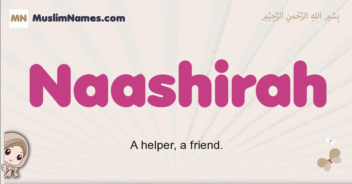 Naashirah muslim girls name and meaning, islamic girls name Naashirah