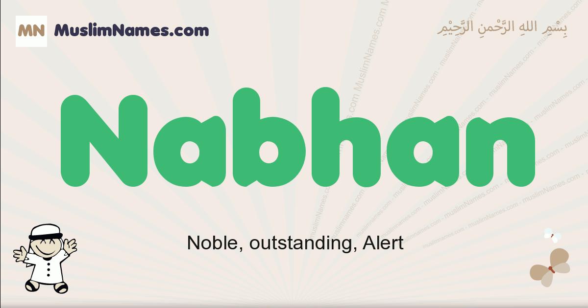 Nabhan muslim boys name and meaning, islamic boys name Nabhan