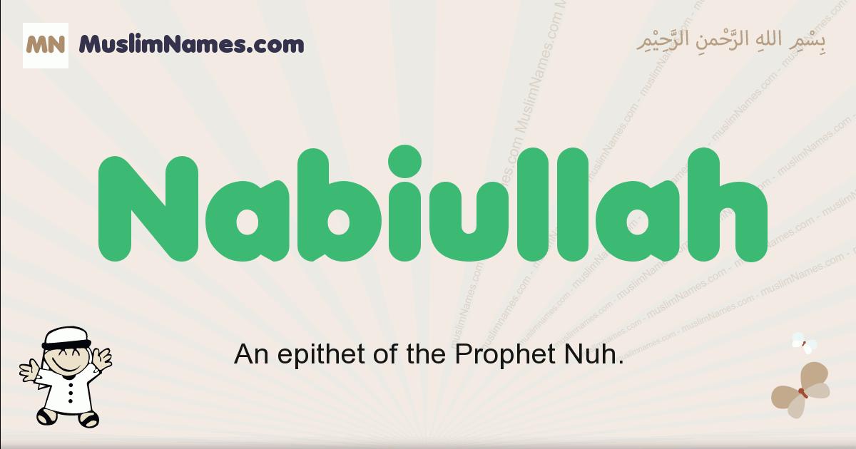Nabiullah muslim boys name and meaning, islamic boys name Nabiullah