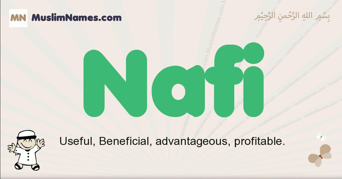 Nafi muslim boys name and meaning, islamic boys name Nafi