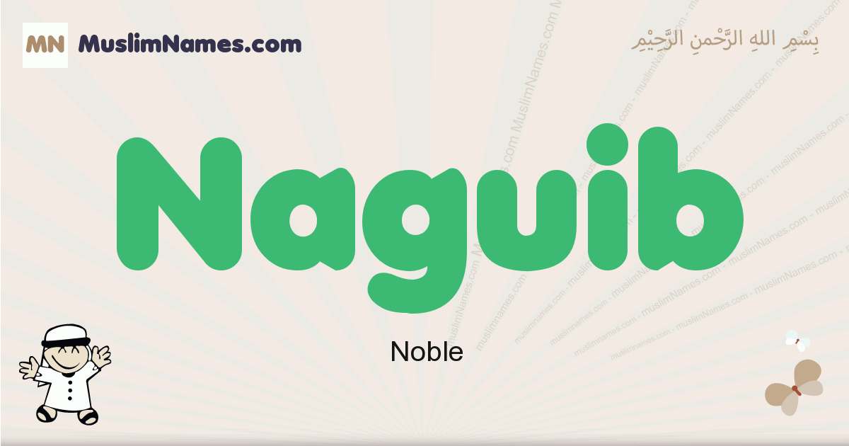 Naguib muslim boys name and meaning, islamic boys name Naguib