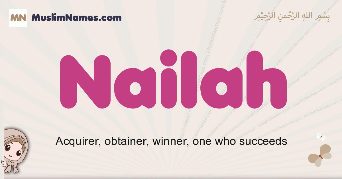 Nailah muslim girls name and meaning, islamic girls name Nailah