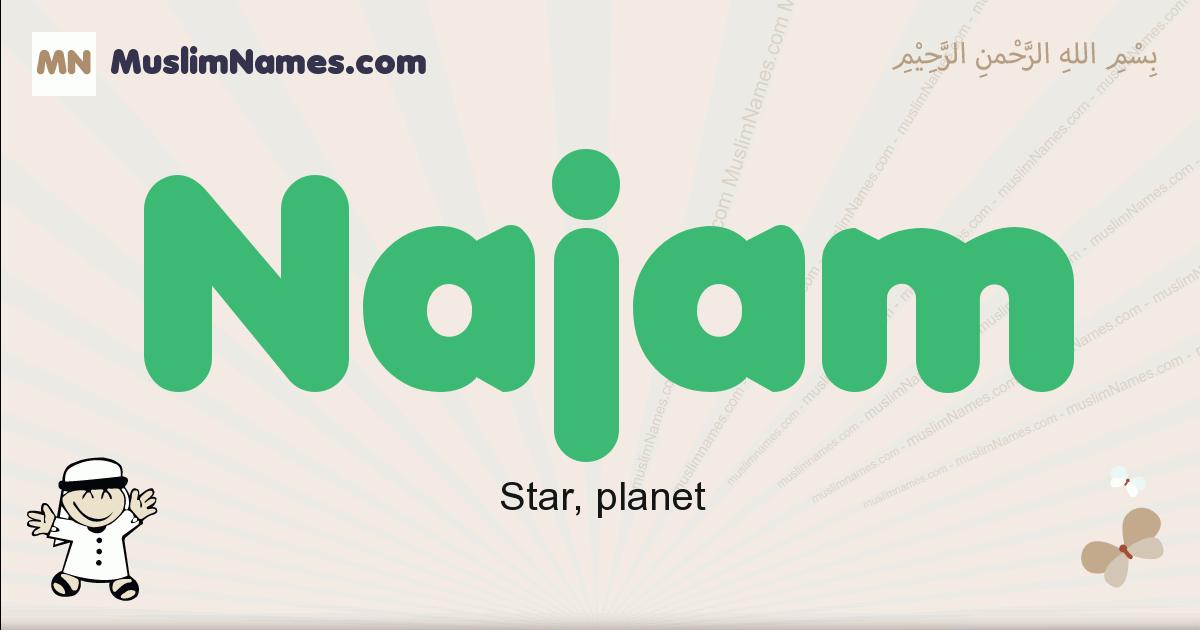 Najam muslim boys name and meaning, islamic boys name Najam