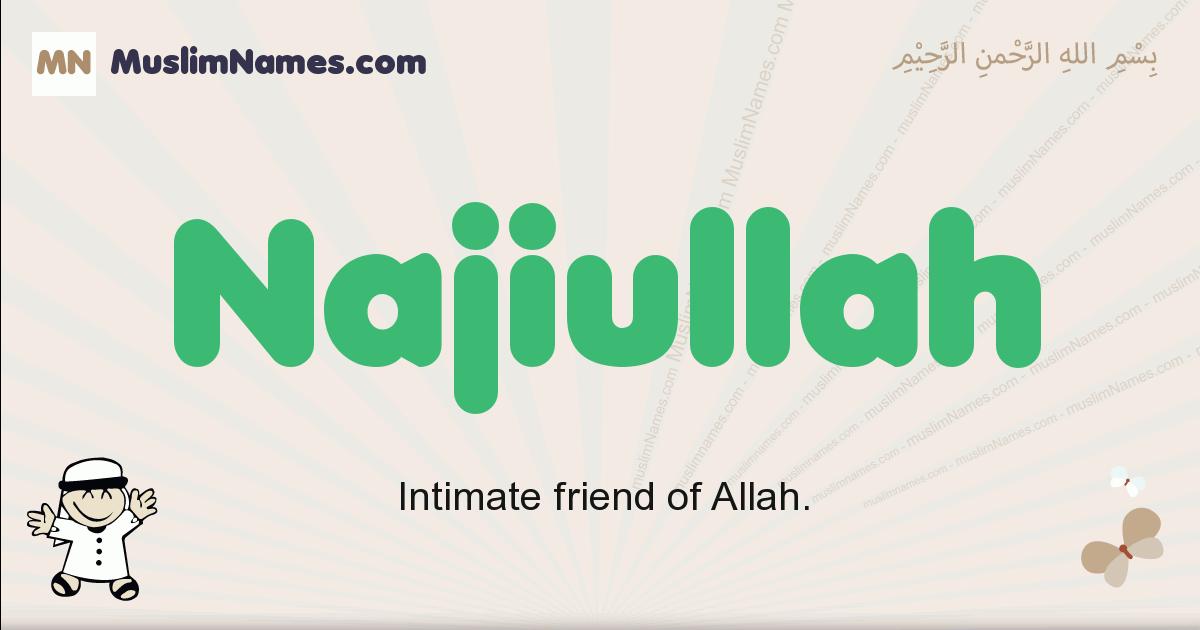 Najiullah muslim boys name and meaning, islamic boys name Najiullah
