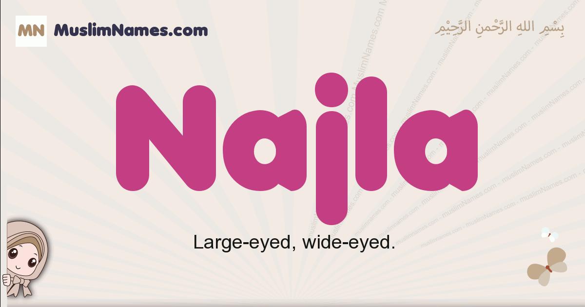 Najla muslim girls name and meaning, islamic girls name Najla