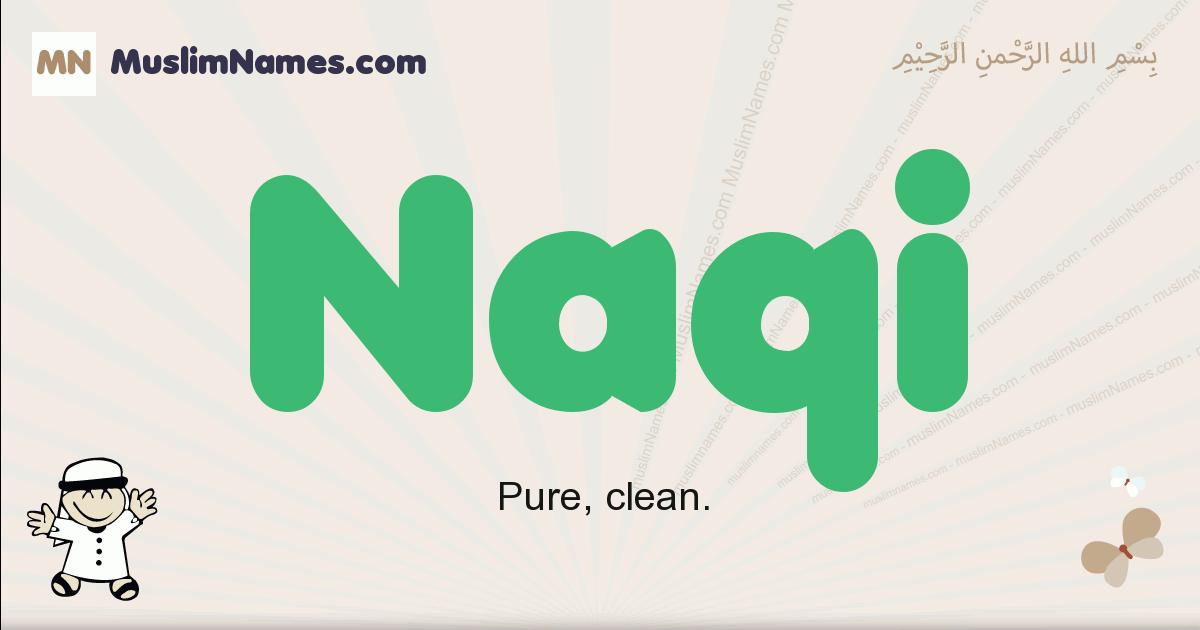 Naqi muslim boys name and meaning, islamic boys name Naqi