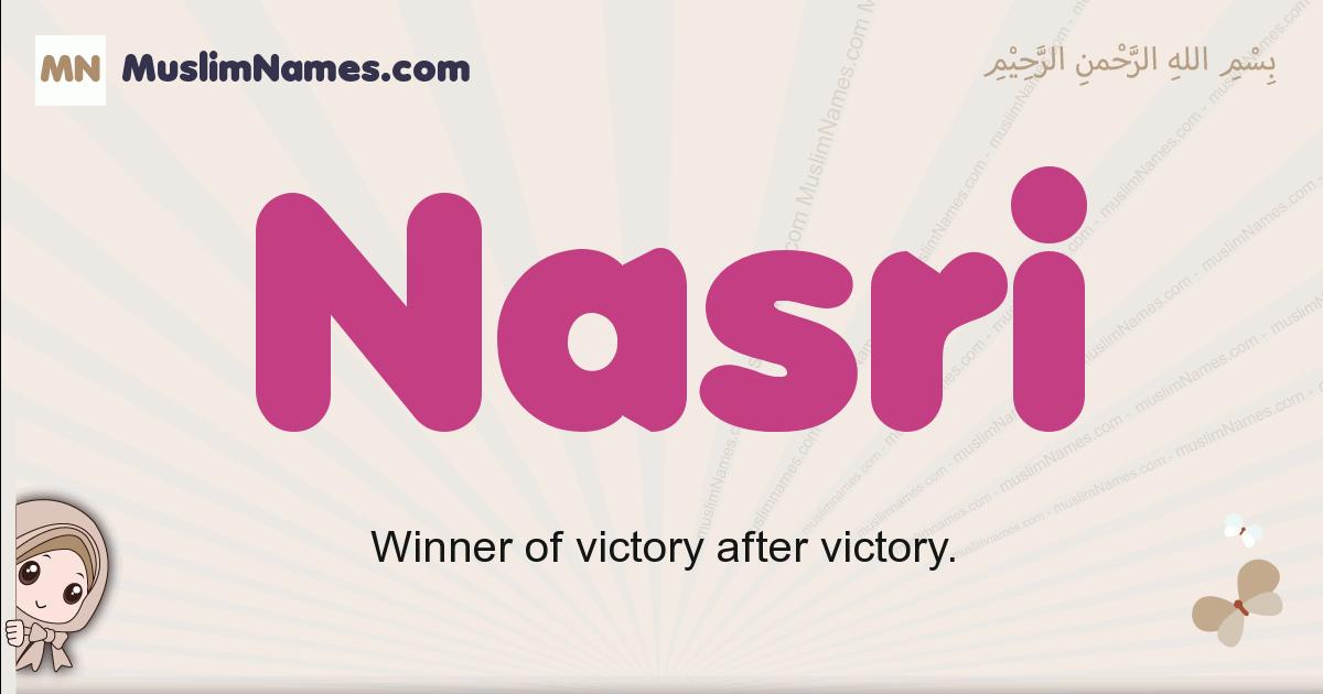 Nasri muslim girls name and meaning, islamic girls name Nasri