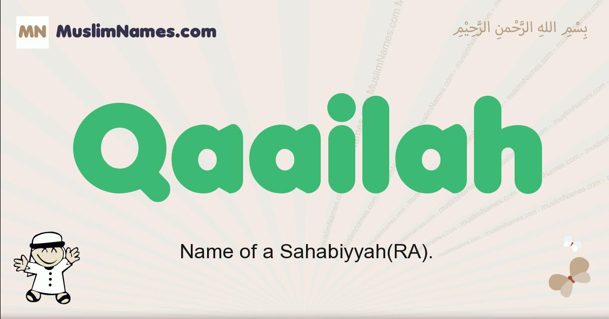 Qaailah muslim boys name and meaning, islamic boys name Qaailah