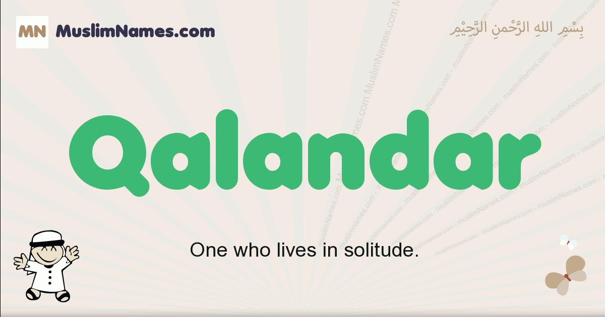qalandar muslim boys name and meaning, islamic boys name qalandar