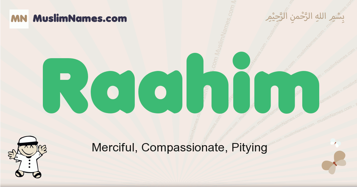 Raahim muslim boys name and meaning, islamic boys name Raahim