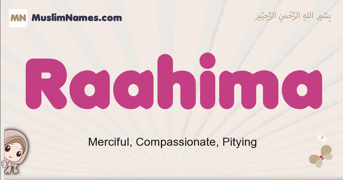 Raahima muslim girls name and meaning, islamic girls name Raahima