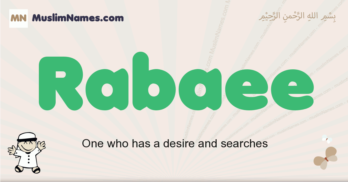 Rabaee muslim boys name and meaning, islamic boys name Rabaee