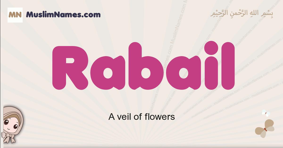 Rabail muslim girls name and meaning, islamic girls name Rabail