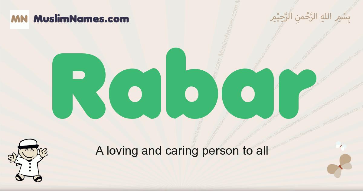 Rabar muslim boys name and meaning, islamic boys name Rabar