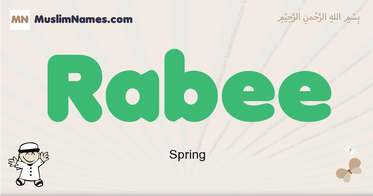 Rabee muslim boys name and meaning, islamic boys name Rabee