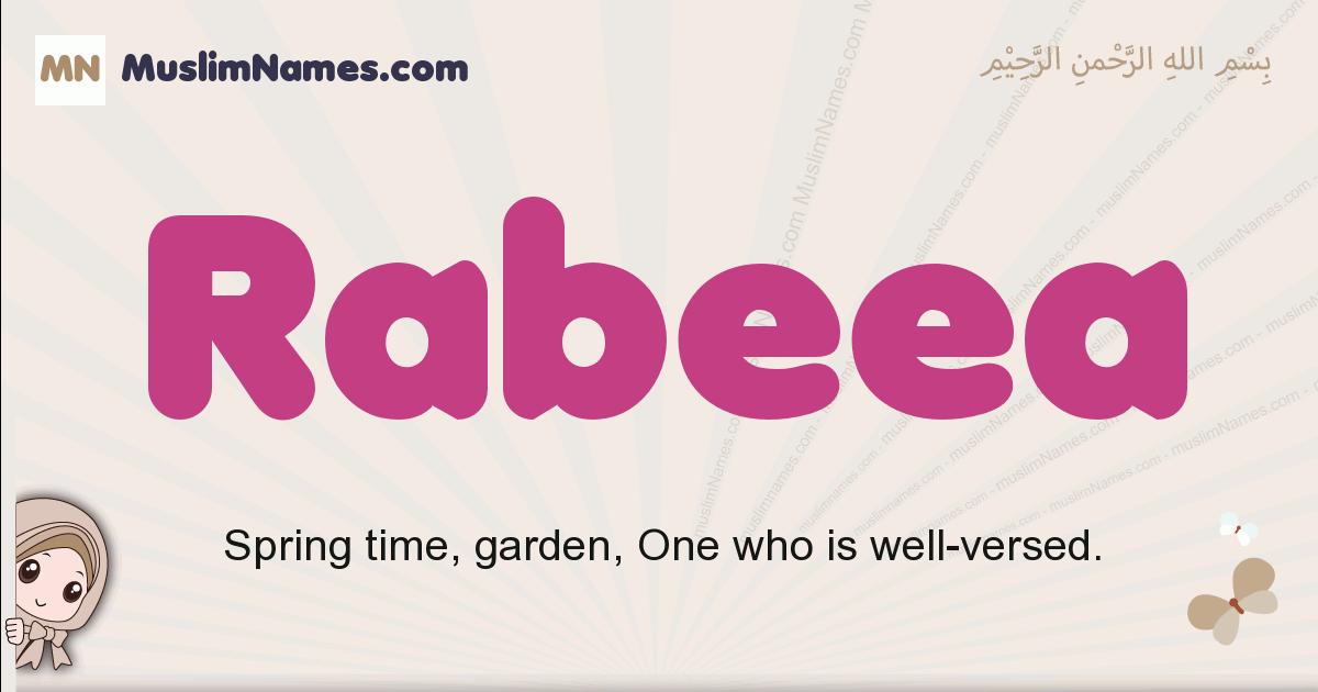 Rabeea muslim girls name and meaning, islamic girls name Rabeea