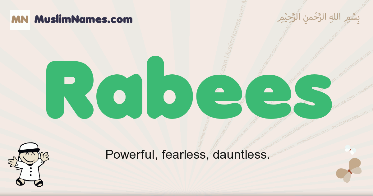 Rabees muslim boys name and meaning, islamic boys name Rabees