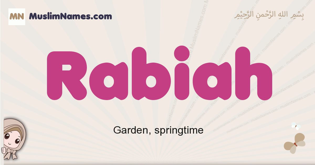 Rabiah muslim girls name and meaning, islamic girls name Rabiah