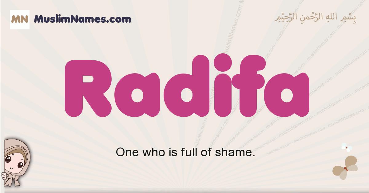 Radifa muslim girls name and meaning, islamic girls name Radifa