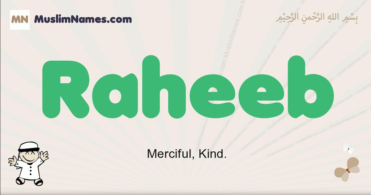 Raheeb muslim boys name and meaning, islamic boys name Raheeb