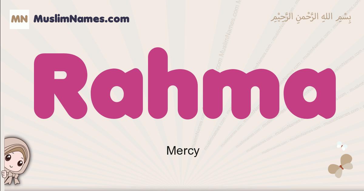 Rahma muslim girls name and meaning, islamic girls name Rahma