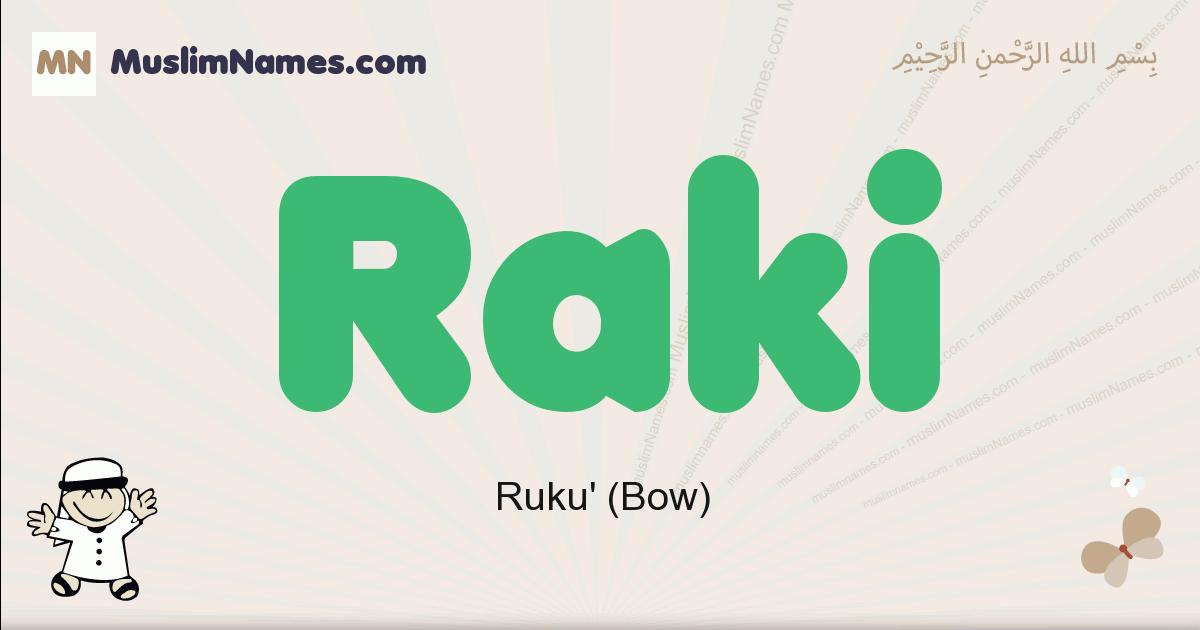 Raki muslim boys name and meaning, islamic boys name Raki