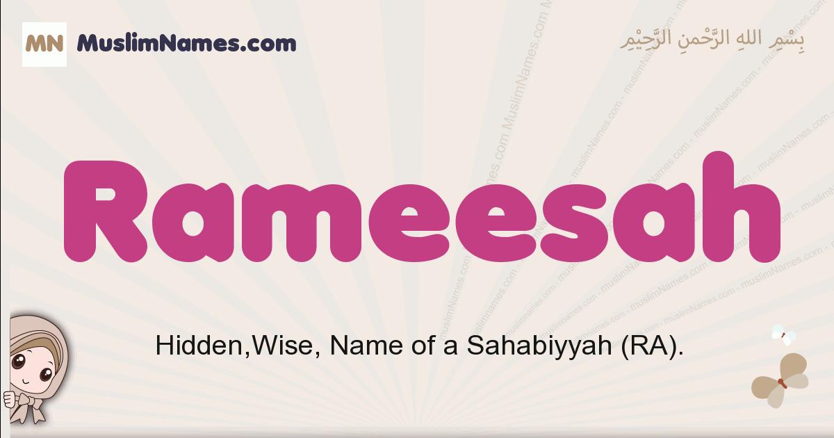 Rameesah muslim girls name and meaning, islamic girls name Rameesah