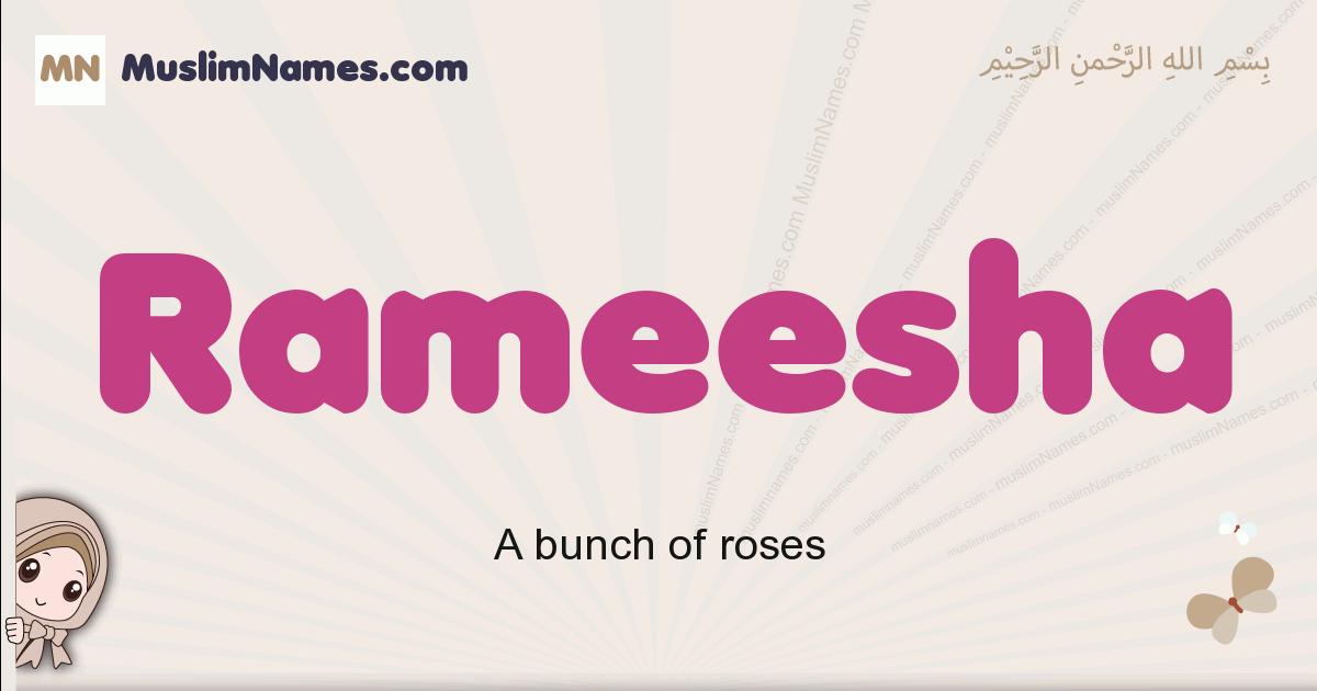 Rameesha muslim girls name and meaning, islamic girls name Rameesha