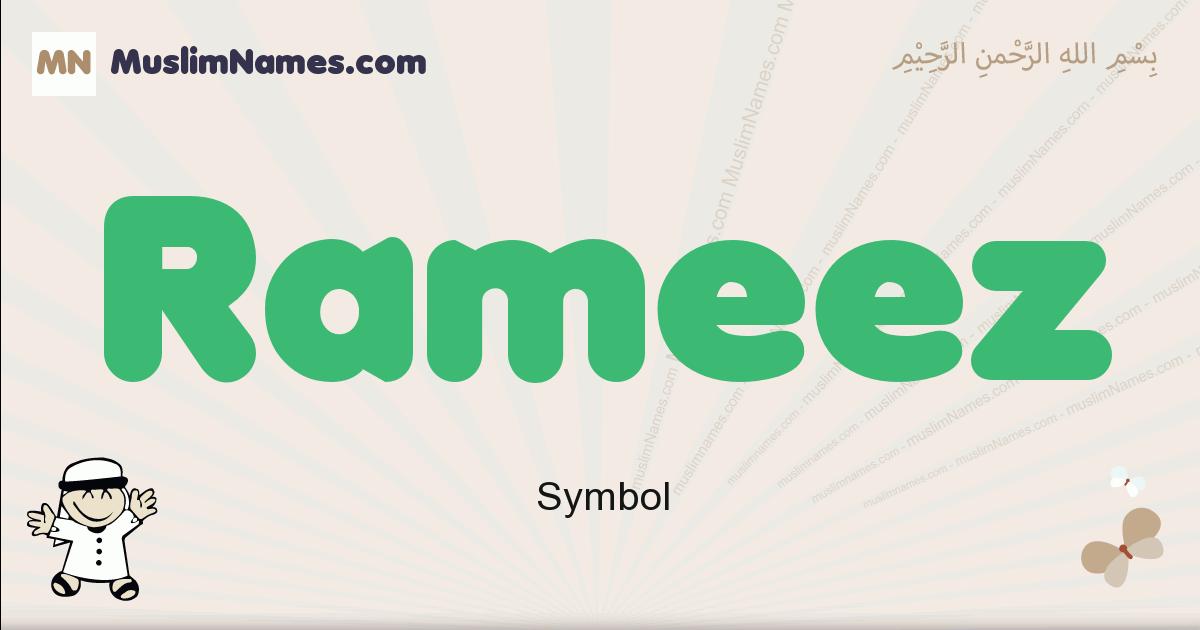 Rameez muslim boys name and meaning, islamic boys name Rameez