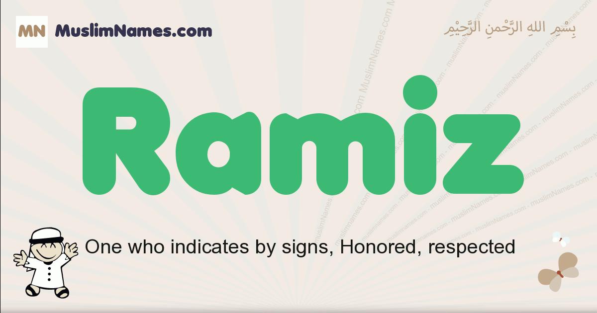 Ramiz muslim boys name and meaning, islamic boys name Ramiz