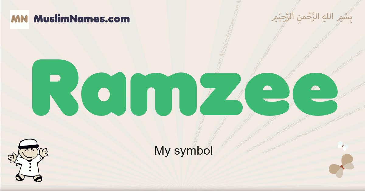Ramzee muslim boys name and meaning, islamic boys name Ramzee