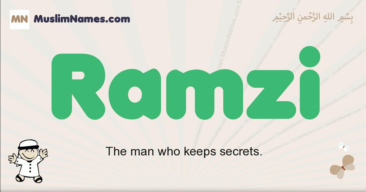 Ramzi muslim boys name and meaning, islamic boys name Ramzi