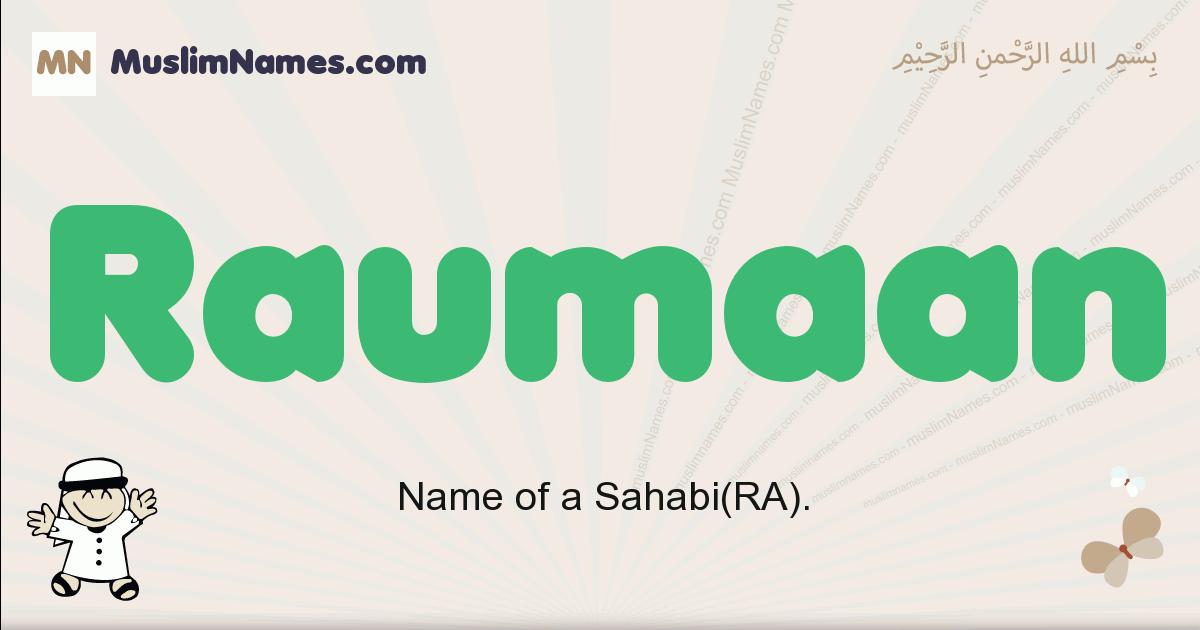 Raumaan muslim boys name and meaning, islamic boys name Raumaan