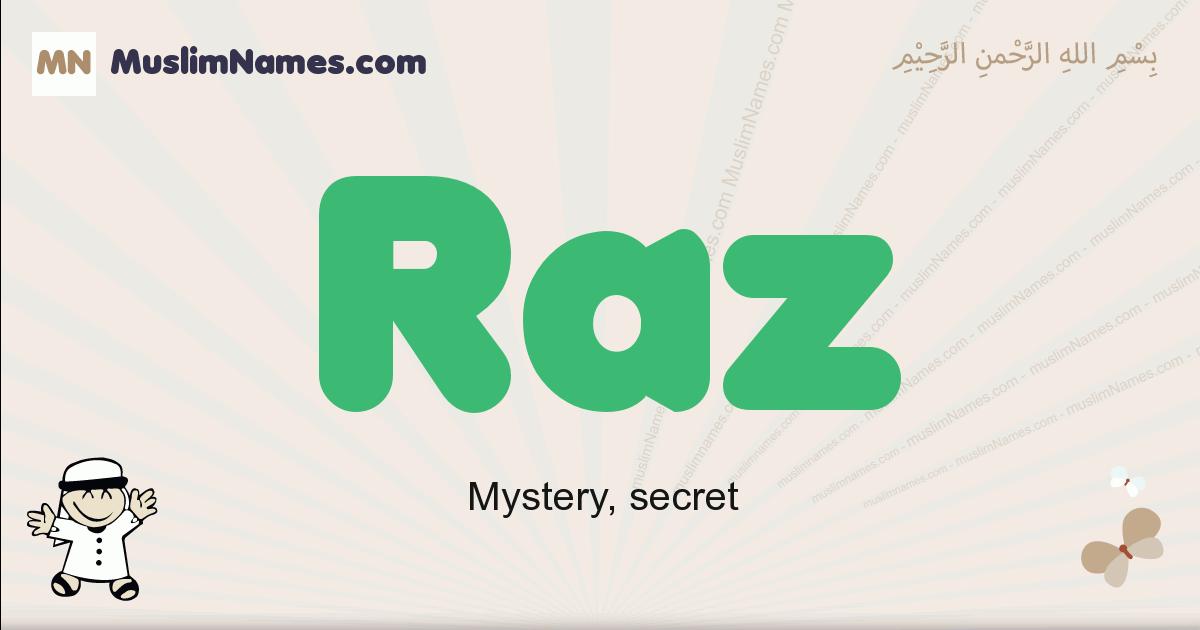 Raz muslim boys name and meaning, islamic boys name Raz