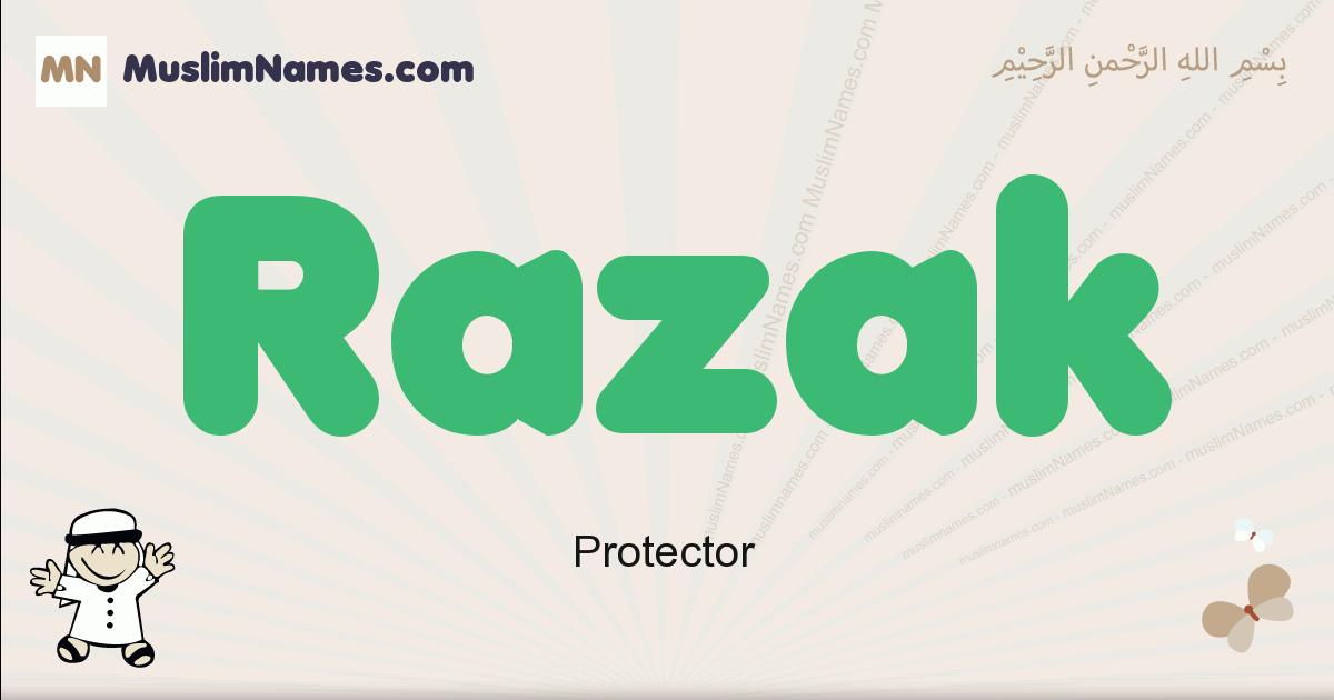 Razak muslim boys name and meaning, islamic boys name Razak