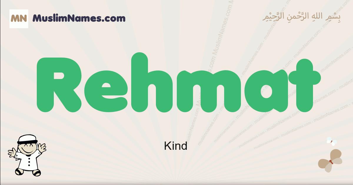 Rehmat muslim boys name and meaning, islamic boys name Rehmat