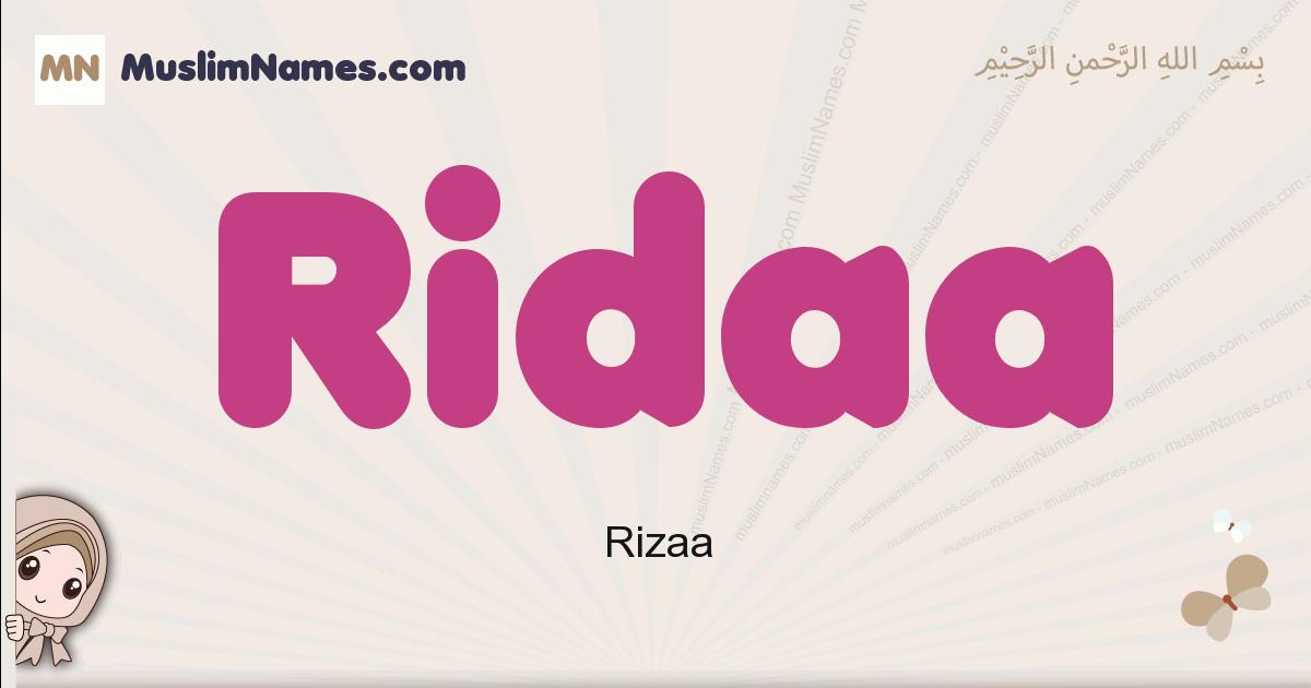 Ridaa muslim girls name and meaning, islamic girls name Ridaa
