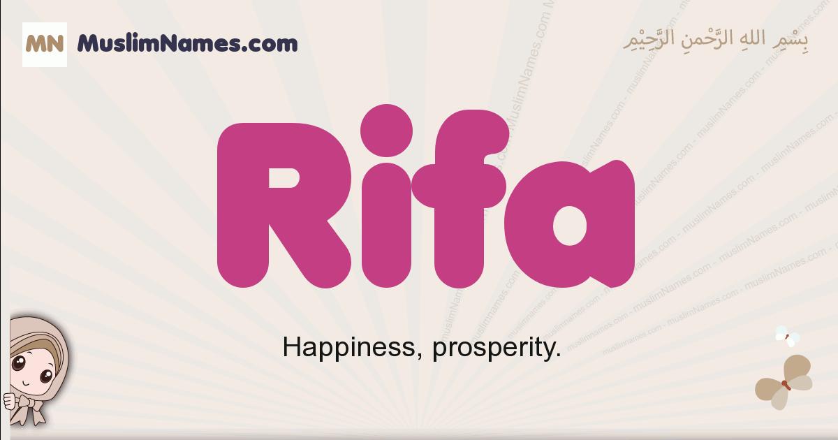 Rifa muslim girls name and meaning, islamic girls name Rifa