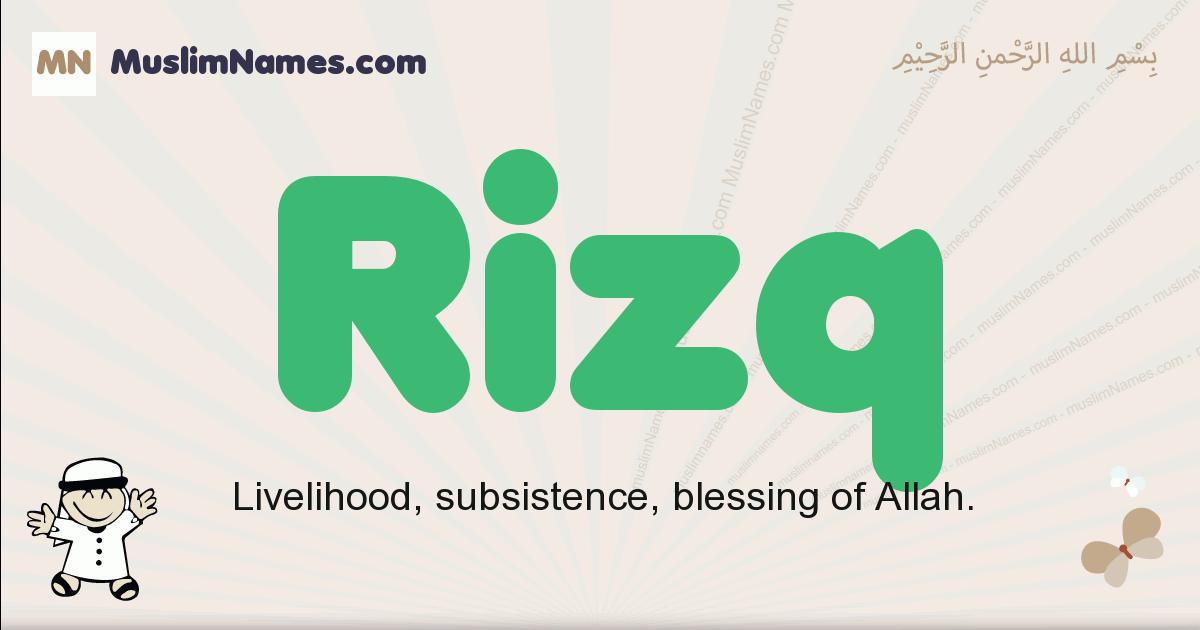 Rizq muslim boys name and meaning, islamic boys name Rizq