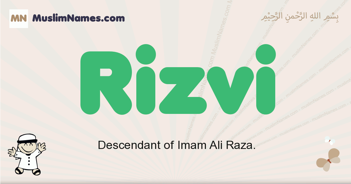 Rizvi muslim boys name and meaning, islamic boys name Rizvi