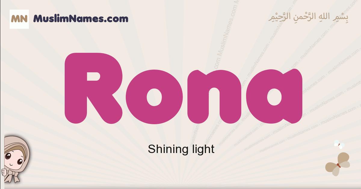 Rona muslim girls name and meaning, islamic girls name Rona