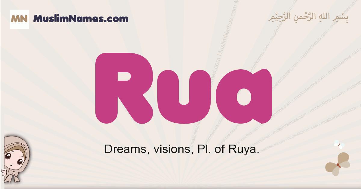 Rua muslim girls name and meaning, islamic girls name Rua